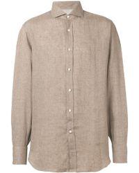 Brunello Cucinelli - Рубашка С Заостренным Воротником - Lyst