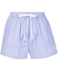 N°21 Pinstripe Shorts - Blue