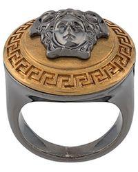 Versace Кольцо С Декором Medusa - Металлик