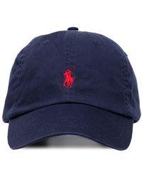Polo Ralph Lauren Logo-embroidered Baseball Cap - Blue
