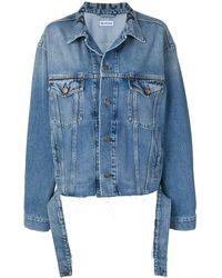 Balenciaga Jeansjacke mit Taillengürtel - Blau