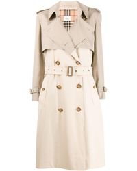 Burberry Two-tone Trench Coat - Natural