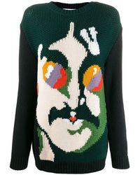 Stella McCartney 'All Together Now' Pullover mit John-Lennon-Gesicht - Schwarz