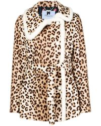 Blumarine - Boxy Leopard Print Jacket - Lyst