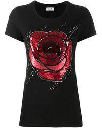 Liu Jo T-shirt a fiori - Nero