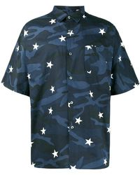 Sophnet - Camouflage Star Print Shirt - Lyst
