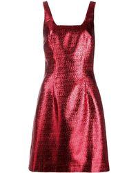 De La Vali メタリック ドレス - レッド