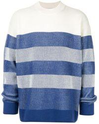 Calvin Klein Striped Long-sleeve Jumper - White
