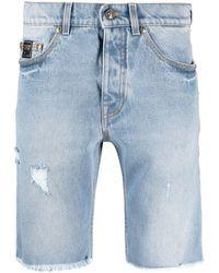 Versace Jeans Couture Джинсовые Шорты V-emblem - Синий