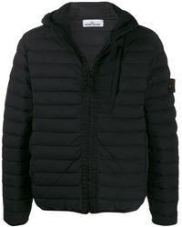 Stone Island Panelled Hooded Jacket - Black