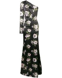 Philipp Plein フローラル ドレス - ブラック