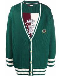 Tommy Hilfiger Кардиган С V-образным Вырезом И Вышивкой - Зеленый