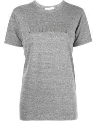 Rodarte T-shirt con stampa metallizzata - Grigio