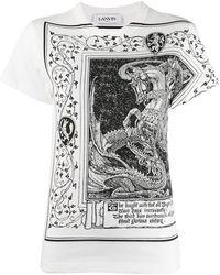 Lanvin ドラゴンプリント Tシャツ - マルチカラー