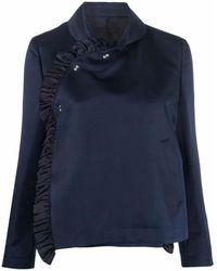 Comme des Garçons ラッフルトリム シングルジャケット - ブルー