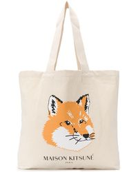 Maison Kitsuné - Bolso shopper con motivo Fox Head - Lyst