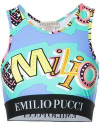 Emilio Pucci プリント クロップドトップス - マルチカラー