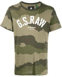 G-Star RAW カモフラージュ Tシャツ - グリーン