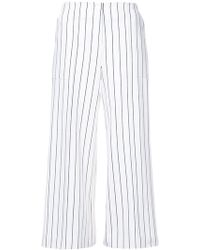 Hellessy - Striped Cropped Trousers - Lyst