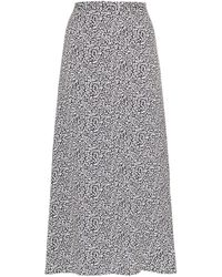 Reformation Printed Midi Skirt - Grey