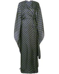 Vionnet Printed maxi wrap dress - Bleu