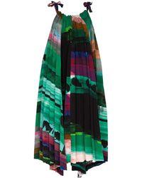 Issey Miyake Ahlder A-line Midi Dress - Green