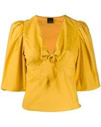 Pinko Блузка С Пышными Рукавами Три Четверти - Желтый