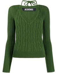 Jacquemus ホルターネック セーター - グリーン