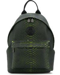 Philipp Plein Snakeskin Print Backpack - Green