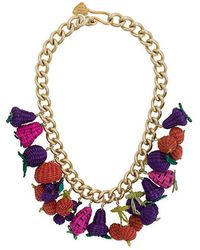 Mercedes Salazar - Woven Fruit Necklace - Lyst