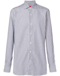 Isaia Striped classic shirt - Bleu