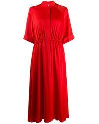 Mulberry マンダリンカラー ドレス - レッド