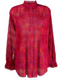 ESCADA Floral print blouse - Rosso