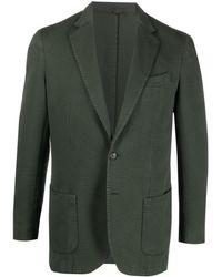 Dell'Oglio テーラード シングルジャケット - グリーン