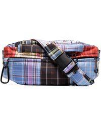Ganni Multicoloured Check Patchwork Belt Bag