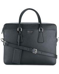Prada Classic saffiano briefcase - Nero