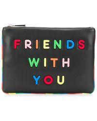 Alice + Olivia X Friends With You Vita Clutch - Black