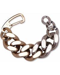 Carolina Herrera Curb Chain Bracelet - Metallic