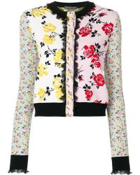Alexander McQueen - Floral Patchwork Jacquard Jacket - Lyst