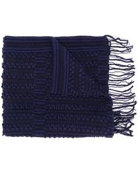 Giorgio Armani Pre-Owned - 1990's Knitted Fringed Scarf - Lyst