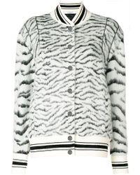 Givenchy - Zebra Pattern Bomber Jacket - Lyst