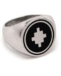 Marcelo Burlon - Cross Ring Silver Black - Lyst
