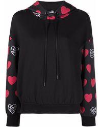 Love Moschino Худи С Логотипом - Черный