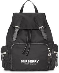 Burberry Small Nylon Backpack - Black