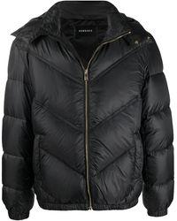 Versace フーデッド パデッドジャケット - ブラック