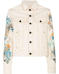 Off-White c/o Virgil Abloh Джинсовая Куртка С Цветочным Принтом - Естественный