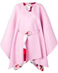 Emilio Pucci Oversized Belted Cape - Pink