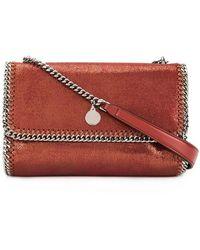 5e7122216d Stella McCartney - Falabella Shiny Dotted Chamois Crossbody Bag - Lyst