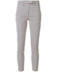 Dondup - Pattern Print Slim-fit Trousers - Lyst