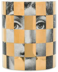 Fornasetti Scacco Scented Candle (900g) - Metallic